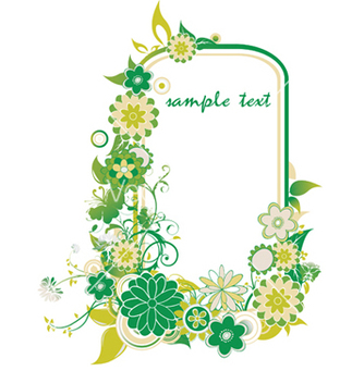 Free floral frame vector - Free vector #244583