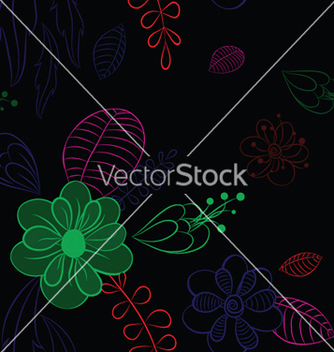 Free abstract seamless floral background vector - Free vector #244673