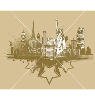 Free vintage city background vector - Free vector #244683