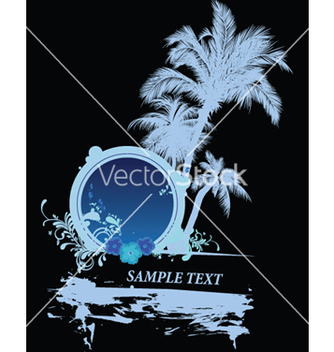 Free vintage summer background with palm trees vector - Free vector #244843
