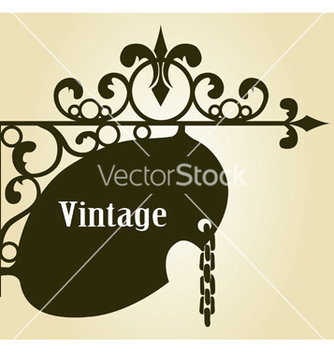 Free wrought iron sign vector - Free vector #245003