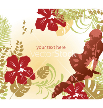 Free girl with floral vector - vector #245243 gratis