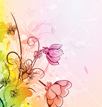 Free watercolor floral background vector - Free vector #245263