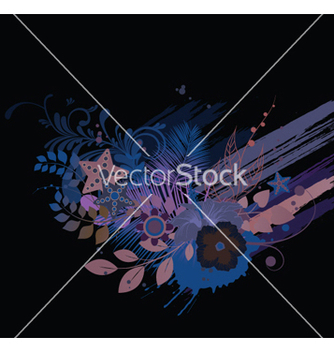 Free floral with splash vector - бесплатный vector #245293