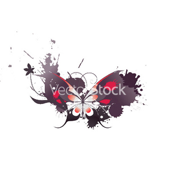 Free butterfly with grunge vector - Free vector #245323
