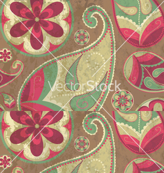 Free paisley background vector - Free vector #245343