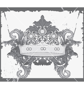 Free crown with baroque floral vector - Kostenloses vector #245753
