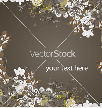 Free abstract floral background vector - Free vector #245773