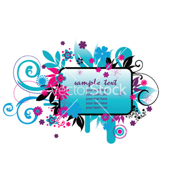 Free spring floral frame vector - Free vector #245843