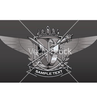 Free vintage crest with wings vector - Free vector #245853