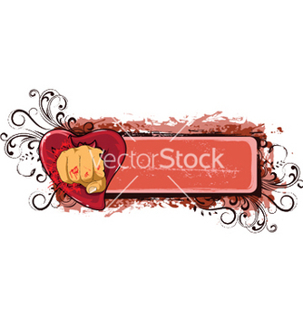 Free frame with grunge floral and heart vector - Free vector #245863