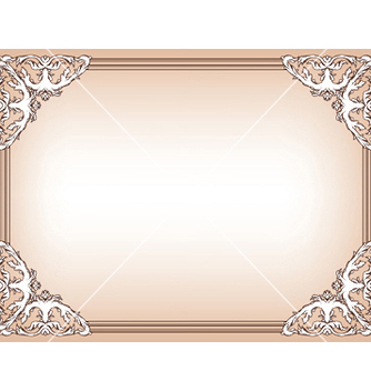 Free baroque floral frame vector - Free vector #245873