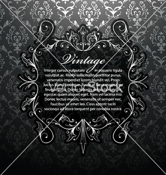 Free vintage silver floral frame vector - Free vector #245893