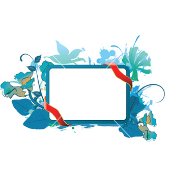 Free watercolor floral frame vector - бесплатный vector #245923