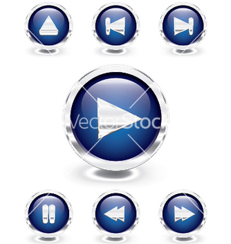 Free glossy buttons vector - Free vector #246043