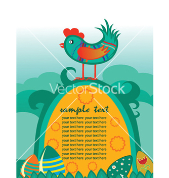 Free easter background with hen vector - vector #246073 gratis