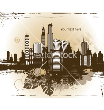 Free city with grunge vector - Free vector #246143