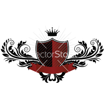 Free vintage emblem with shield vector - Kostenloses vector #246303