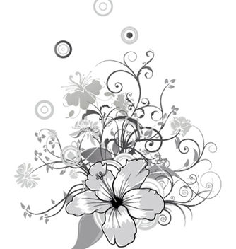Free abstract flower with circles vector - vector #246413 gratis
