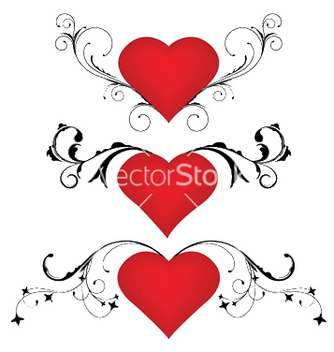 Free heart with floral vector - Free vector #246503