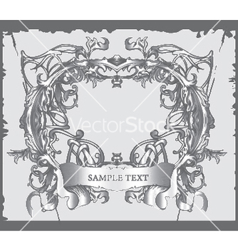 Free baroque floral frame vector - Free vector #246733