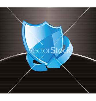 Free shield icon with arrow vector - vector gratuit #246823