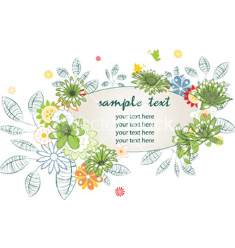 Free floral frame vector - Free vector #246843