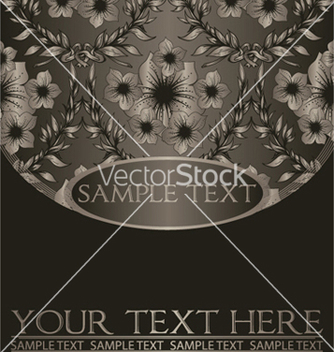 Free vintage background with floral vector - Kostenloses vector #246913