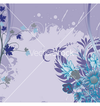 Free grunge background with floral vector - vector gratuit #247053