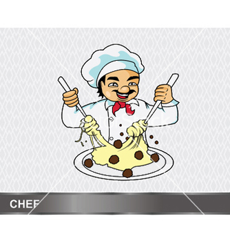 Free cartoon chef vector - бесплатный vector #247193