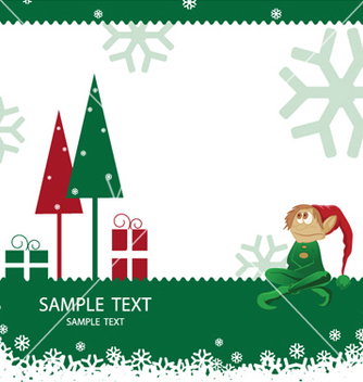 Free christmas greeting card vector - Kostenloses vector #247423
