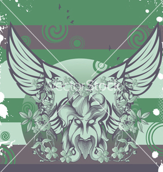 Free monster with wings vector - Free vector #247593