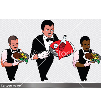 Free waiter set vector - Free vector #247603