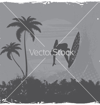 Free summer grunge background with surfer vector - Free vector #247613