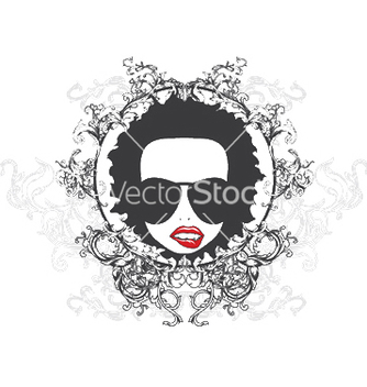 Free funky face emblem vector - Kostenloses vector #247693