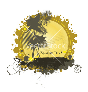 Free summer with palm trees vector - Free vector #247723