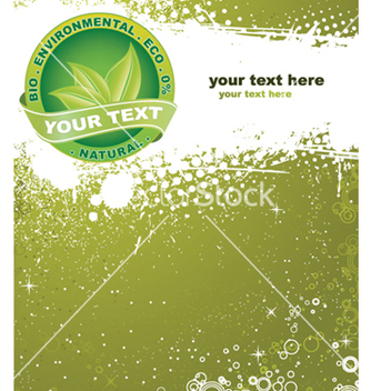 Free eco label with grunge background vector - Free vector #247863