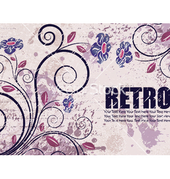 Free retro floral background vector - Free vector #247873