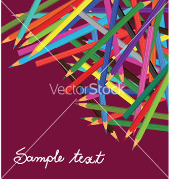 Free coloured pencils vector - vector gratuit #248013