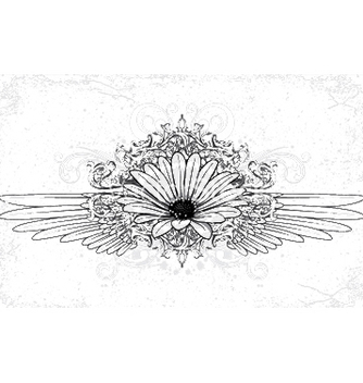 Free flower with wings vector - vector gratuit #248023