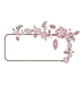 Free floral frame vector - Kostenloses vector #248273