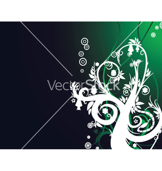 Free abstract background with floral vector - vector #248293 gratis