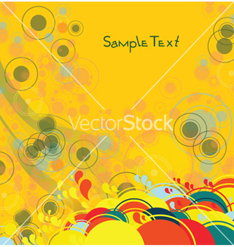 Free abstract background with circles vector - vector #248343 gratis