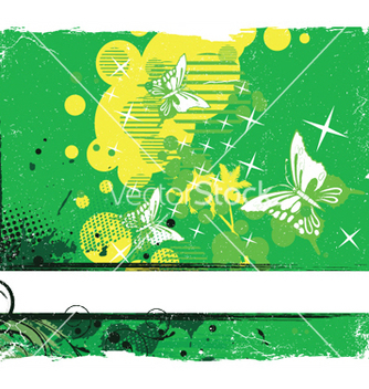 Free grunge background with butterflies vector - Kostenloses vector #248363