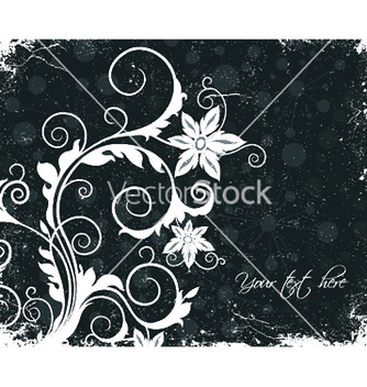 Free vintage floral background vector - Kostenloses vector #248393