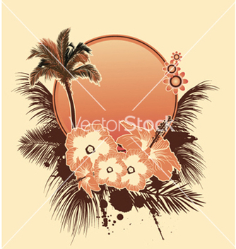 Free summer with hibiscus vector - Free vector #248513