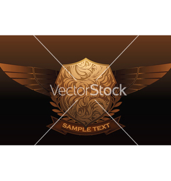 Free vintage emblem with shield and wings vector - Kostenloses vector #248533