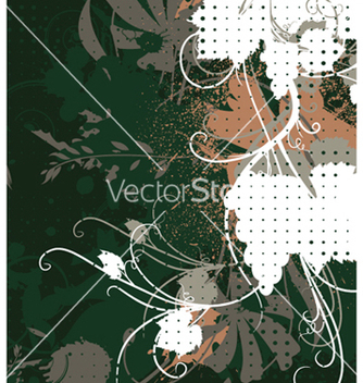 Free grunge floral background vector - vector gratuit #248793