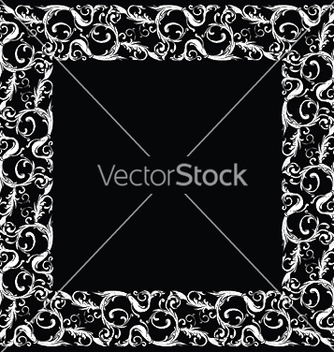 Free baroque floral frame vector - Free vector #248813