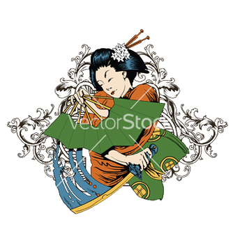 Free japanese tshirt design vector - бесплатный vector #248833